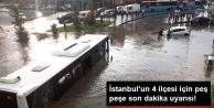 AKOM ve İBB'den İstanbul'un 4 İlçesi İçin Şiddetli Yağış Uyarısı