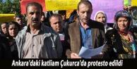 Ankara'daki katliam Çukurca'da protesto edildi