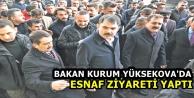 Bakan Kurum, Yüksekova'da Esnaf Ziyareti Yaptı