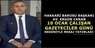 Başkan Canan'dan Gazeteciler Günü Mesajı