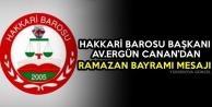 Başkan Canan'dan Ramazan Bayramı Mesajı