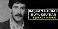 Başkan Dırbaz Büyüksu'dan Teşekkür Mesajı