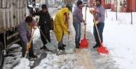 Bingöl'de karla mücadele...