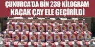 Çukurca'da Bin 239 Kilogram Kaçak Çay Ele Geçirildi