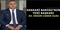 Hakkari Barosu'nun Yeni Başkanı Av. Ergün Canan Oldu
