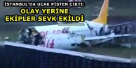 İstanbul'da Uçak Pisten...