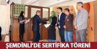 Şemdinli'de Sertifika...