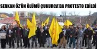 Serkan Öz'ün Ölümü Çukurca'da Protesto Edildi