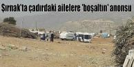 Şırnak'ta çadırdaki...