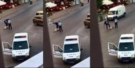Sokak ortasında kadına dayak atan polis tutuklandı