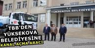 TBB'den Yüksekova Belediyesine...