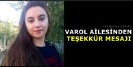 Varol Ailesinden Teşekkür Mesajı