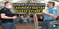 Yüksekova..! Başkan Aydoğdu'dan Çadırda Yaşayan Aileye Ziyaret