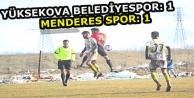 Yüksekova Belediye spor: 1 - Menderes Spor: 1