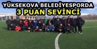Yüksekova Belediyesporda 3 puan sevinci