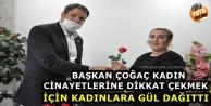 Yüksekova: Kadın Cinayetlerine Dikkat Çekmek İçin Kadınlara Gül Dağıtıldı