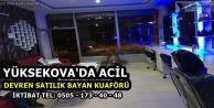 Yüksekova'da Devren Satılık Kuaför Malzemesi