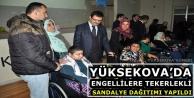 Yüksekova'da Engellilere Tekerlekli Sandalye Dağıtımı Yapıldı