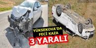 Yüksekova'da feci kaza:...