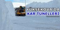 Yüksekova'da Kar Tünelleri