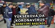 Yüksekova'da 'Koronavirüs' Denetimi Başladı