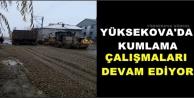 Yüksekova'da Kumlama Çalışmaları Devam Ediyor