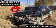 Yüksekova'da Trafik Kazası: 3 Yaralı