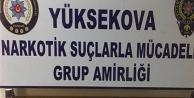 Yüksekova'da uyuşturucu...