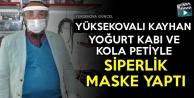 Yüksekovalı Kayhan, Yoğurt Kabı Ve Pet Şişeden Siperlik Yaptı