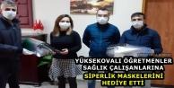 Yüksekovalı Öğretmenlerden Sağlık Çalışanlarına Siperlik Maske