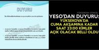 YESO'dan Duyuru: Yüksekova'da Cuma Akşamına Kadar Saat 23:00 Kimler Açık Olacak Belli Oldu