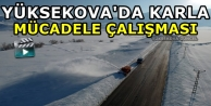 Yüksekova'da Karla Mücadele Çalışması