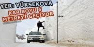 Yüksekova'da Şaşırtan Kar Tünelleri