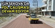 Yüksekova'da Yol Çalışması Devam Ediyor