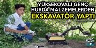 Yüksekovalı Genç Hurda Malzemelerden Ekskavatör Yaptı
