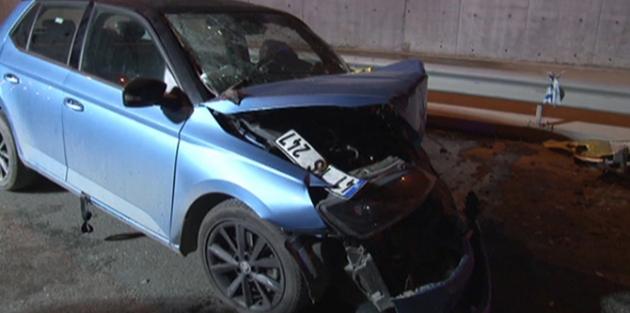 Trafik kazası: 2 yaralı  Trafik kazası: 2 yaralı