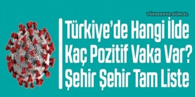 Türkiye'de İl İl Kaç Vaka Var?