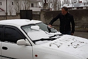 Van'da Nisan ayında kar yağışı