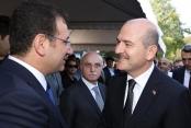Soylu ile İBB Başkanı İmamoğlu törende bir araya geldi