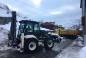 Çukurca Belediyesinden Kar Temizleme Çalışması
