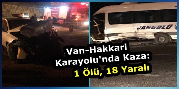 Van - Hakkari Yolunda Kaza: 1 Ölü, 18 Yaralı