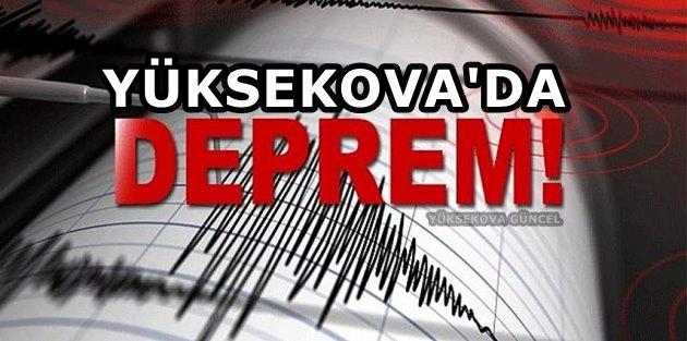 Van'da Deprem..! Yüksekova'da da hissedildi
