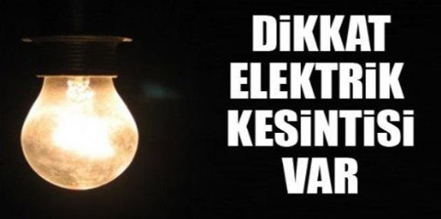 VEDAŞ'tan elektrik kesintisi uyarısı