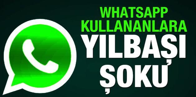 Whatsapp kullananlara yılbaşı şoku