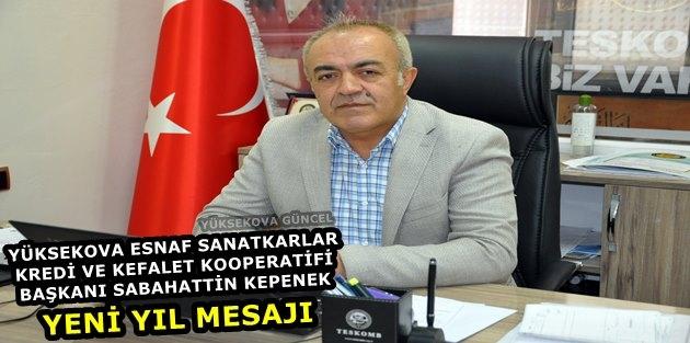 YESKOOP Başkanı Kepenek'ten yeni yıl mesajı