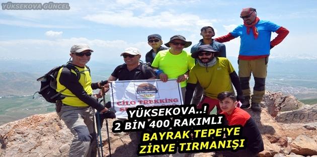 Yüksekova..! 2 bin 400 rakımlı Bayrak Tepe'ye zirve tırmanışı