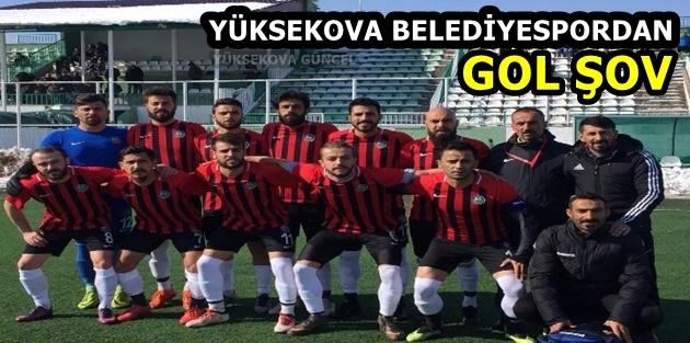 Yüksekova Belediyespordan gol şov