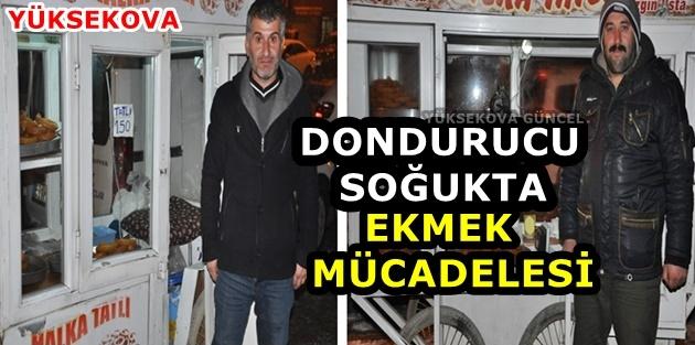 Yüksekova..! Dondurucu Soğukta Ekmek Mücadelesi