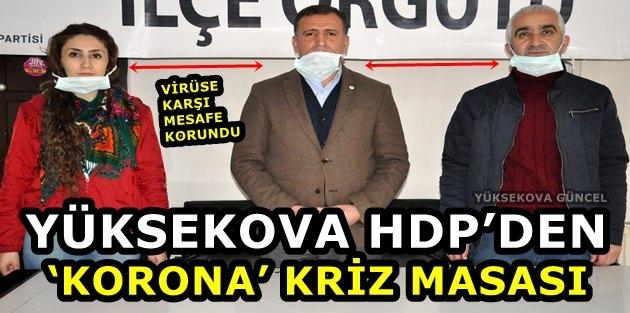 Yüksekova Hdp'den 'Korona' Kriz Masası