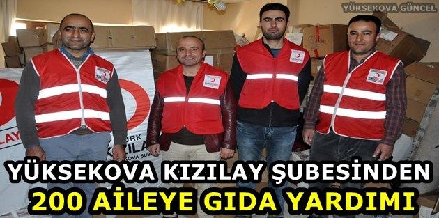 Yüksekova Kızılay Şubesinden 200 Aileye Gıda Yardımı
